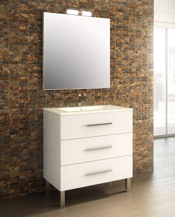 Meuble de salle de bain madrid 80 cm c3s for Meuble salle de bain sur pied