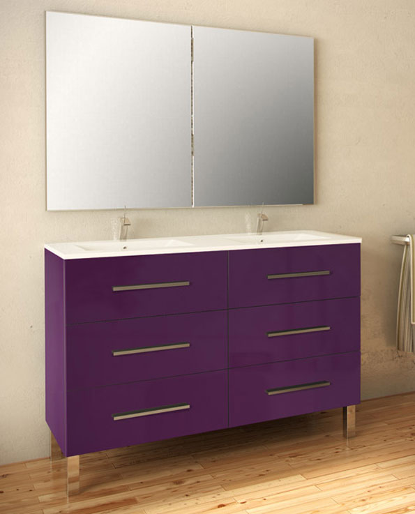 meuble salle de bain aubergine solutions pour la. Black Bedroom Furniture Sets. Home Design Ideas